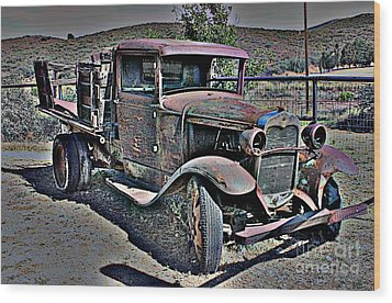 Truckin' Green Acres Style 2 Wood Print