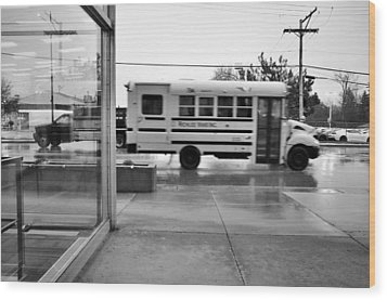 Wood Print featuring the photograph Truckin' In The Rain by Jeanette O'Toole