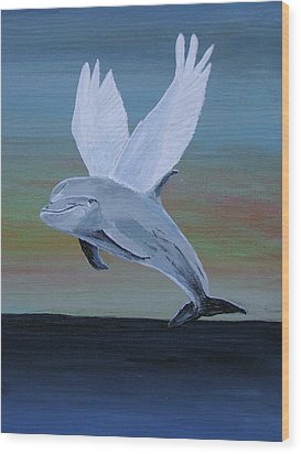 True Angel 3 Wood Print by Eric Kempson