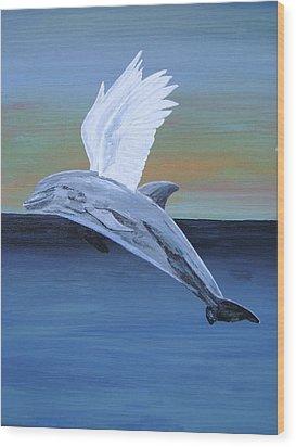 True Angel 4 Wood Print by Eric Kempson