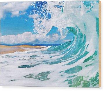 True Blue Wood Print by Paul Topp