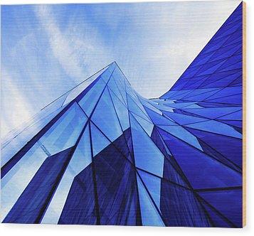 True Blue Wood Print
