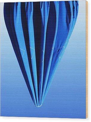 True Blue Too Wood Print by Anna Villarreal Garbis