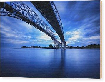 True Blue View Wood Print