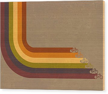 True Colors Cyclery Bikes For All Types Wood Print by Victoria Collins