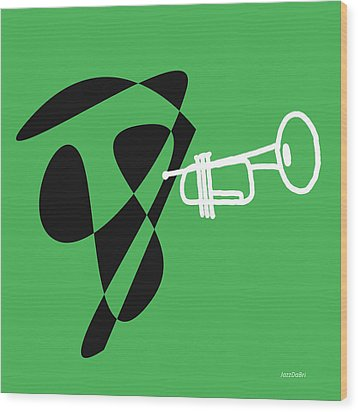 Trumpet In Green Wood Print by David Bridburg
