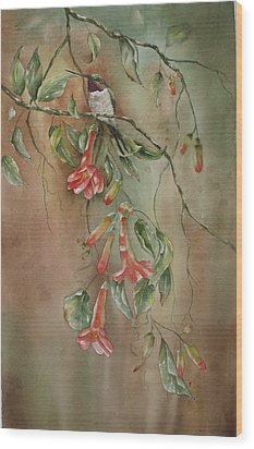 Trumpet Nectar Wood Print by Mary McCullah