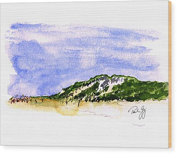 Truro Beach Cape Cod Wood Print by Paul Gaj
