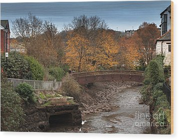 Wood Print featuring the photograph Truro River by Brian Roscorla