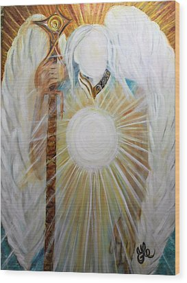Trust - Michaelarchangel Series Wood Print