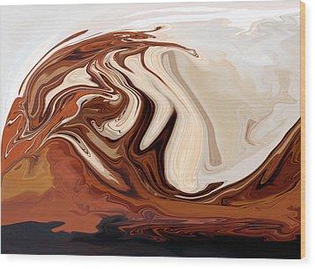 Tsunami Iv Wood Print by Pauline Thomas