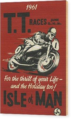 Tt Races 1961 Wood Print by Georgia Fowler
