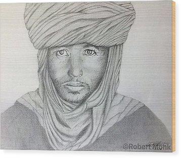 Tuareg Beduin Wood Print