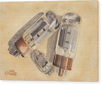 Tubes Wood Print by Ken Powers