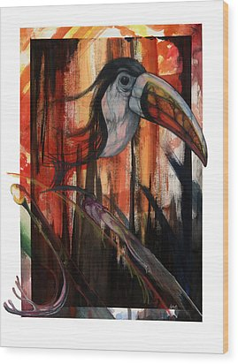 Tucan Wood Print by Anthony Burks Sr