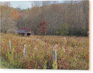 Wood Print featuring the photograph Tucked Away - Barns by HH Photography of Florida