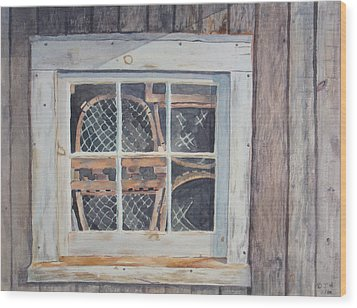 Tucked Away Wood Print by Debbie Homewood