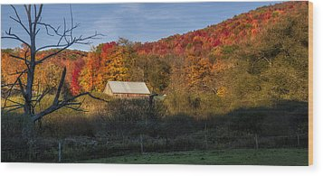 Wood Print featuring the photograph Tucked Away by Mark Papke