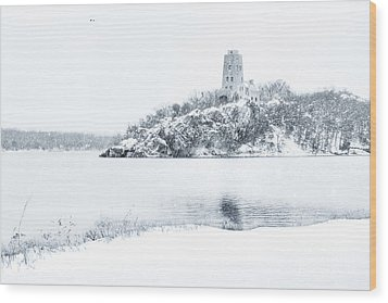 Tucker's Tower In Winter Wood Print by Tamyra Ayles