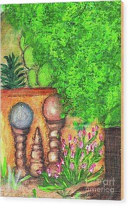 Tucson Garden Wood Print