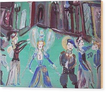 Tudor Fairies Wood Print by Judith Desrosiers