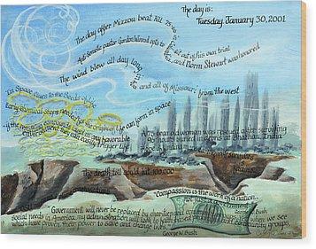 Tuesday January 30 2001 Wood Print