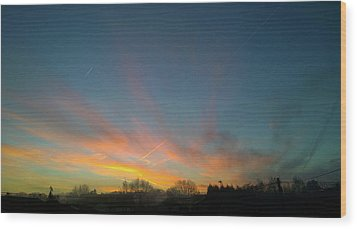 Wood Print featuring the photograph Tuesday Sunrise by Anne Kotan