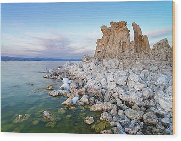 Wood Print featuring the photograph Mono Lake - Tufa by Francesco Emanuele Carucci