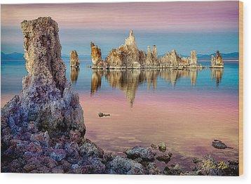 Wood Print featuring the photograph Tufas At Mono Lake by Rikk Flohr