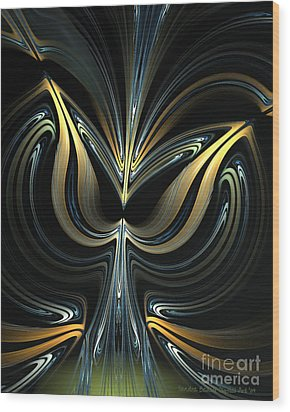 Tulip Abstract Wood Print by Sandra Bauser Digital Art