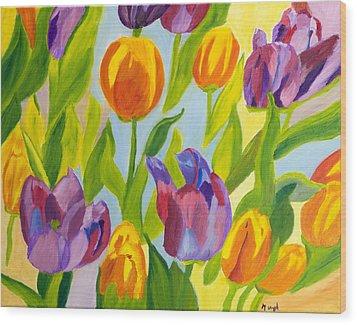 Tulip Fest Wood Print