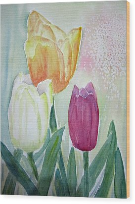 Tulips  Wood Print by Elvira Ingram