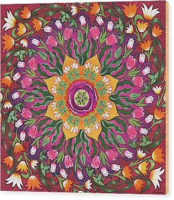 Tulip Mania 2 Wood Print by Isobel  Brook Haslam