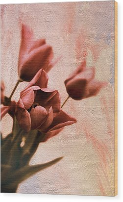 Wood Print featuring the photograph Tulip Whimsy by Jessica Jenney