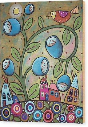 Tulip Town Wood Print by Karla Gerard