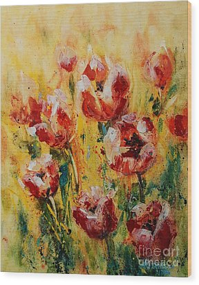 Tulip Waltz Wood Print
