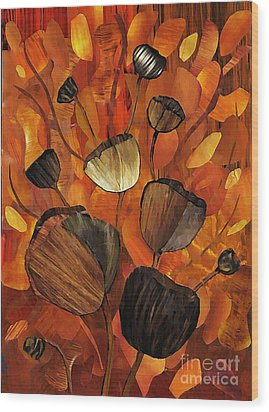 Tulips And Violins Wood Print