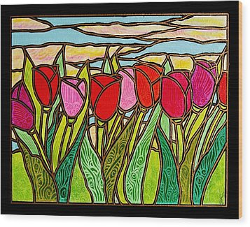 Tulips At Sunrise Wood Print by Jim Harris
