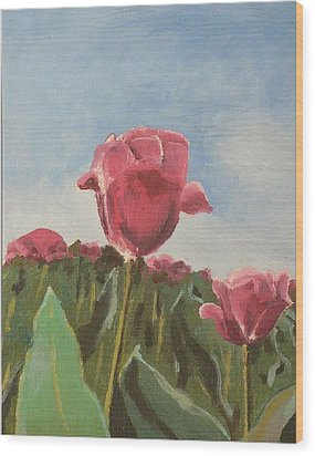 Wood Print featuring the painting Tulips Festival Ottawa by Geeta Biswas