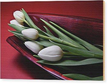 Tulips II Wood Print by Tom Mc Nemar