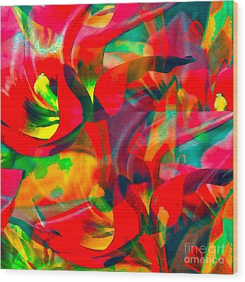 Wood Print featuring the digital art Tulips IIi by Loko Suederdiek
