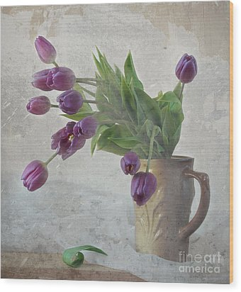 Tulips Wood Print by Irina No