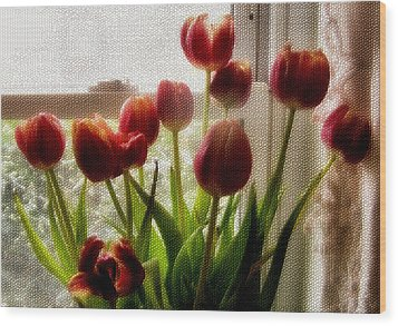 Tulips Wood Print by Karen Scovill