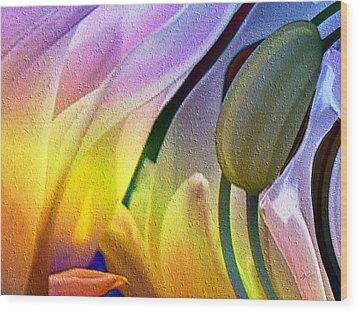 Tulips Secret Wood Print