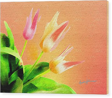 Tulips Three Wood Print by Anthony Caruso