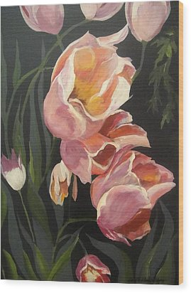 Tulips Tumbling Wood Print