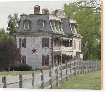 Wood Print featuring the photograph Tulpehocken Manor Plantation Historic Site  by David Dehner