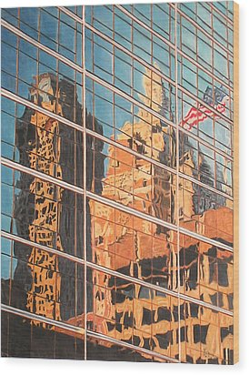 Tulsa Relections 2 Wood Print by Kenny King