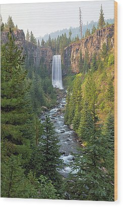 Tumalo Falls In Bend Oregon Wood Print by David Gn