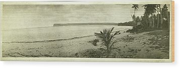 Tumon Bay Guam Wood Print by eGuam Panoramic Photo